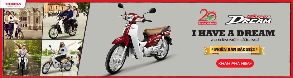 """Honda Việt Nam giới thiệu chương trình khuyến mãi """"20 năm một ước mơ"""" cho Super Dream phiên bản đặc biệt"""