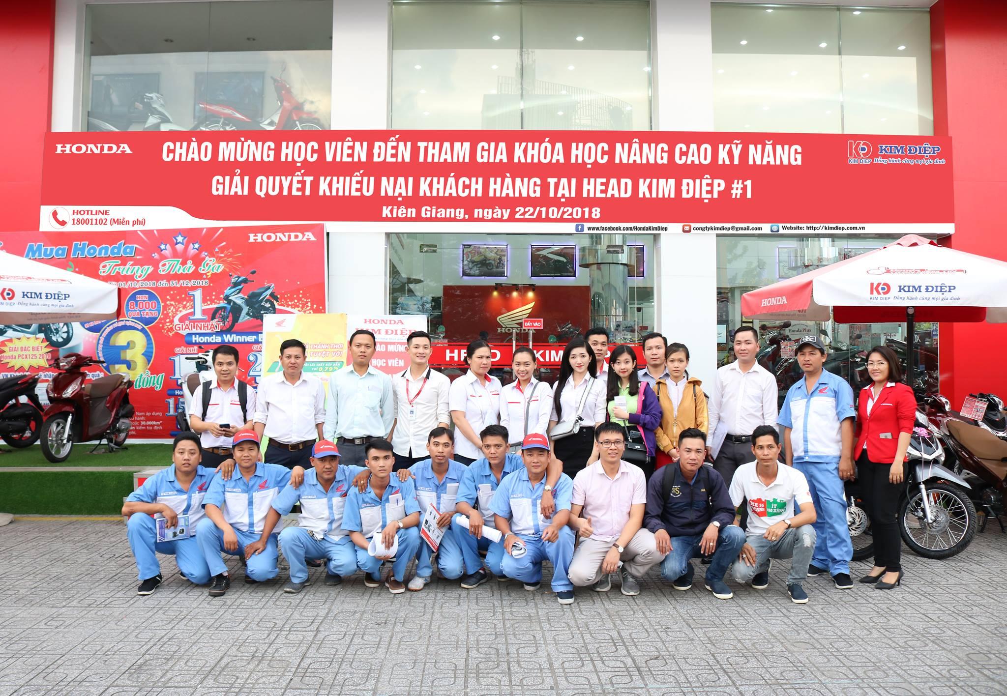 Phòng dịch vụ Khách hàng xe máy Công ty Honda Việt Nam tổ chức khóa học Nâng cao kĩ năng giải quyết khiếu nại khách hàng
