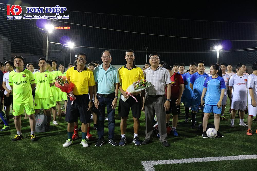 Khai mạc giải bóng đá công đoàn cơ sở công ty Kim Điệp