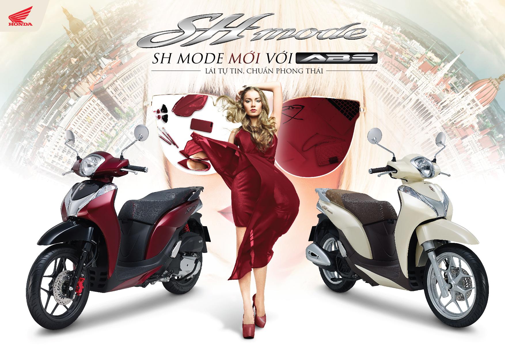 Honda Việt Nam giới thiệu SH Mode 125cc mới với ABS Lái tự tin, chuẩn phong thái