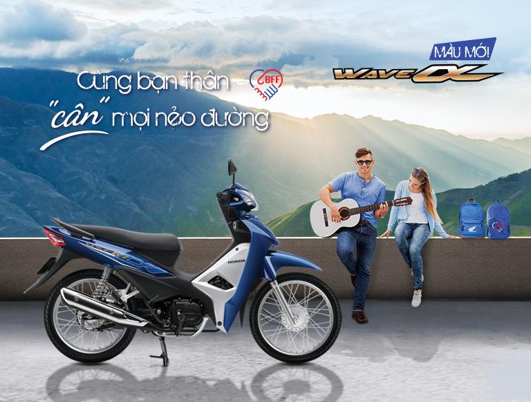 Honda Việt Nam giới thiệu phiên bản mới Wave Alpha 110cc Cùng bạn thân cân mọi nẻo đường