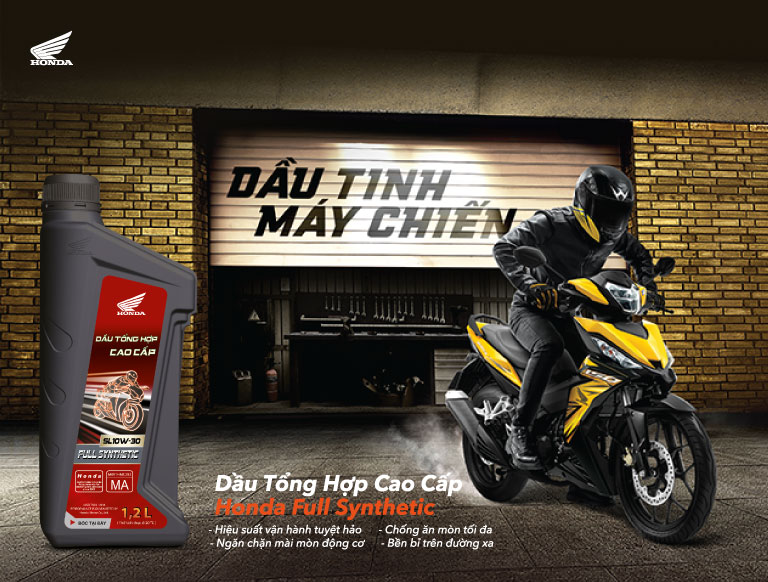 Dầu tổng hợp cao cấp Honda Honda Full Synthetic oil GIẢI PHÓNG MÃNH LỰC BỨT PHÁ GIỚI HẠN