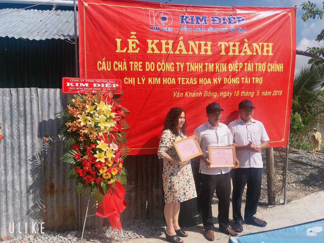 Công ty Kim Điệp khánh thành cầu Trà Treo tại huyện An Minh