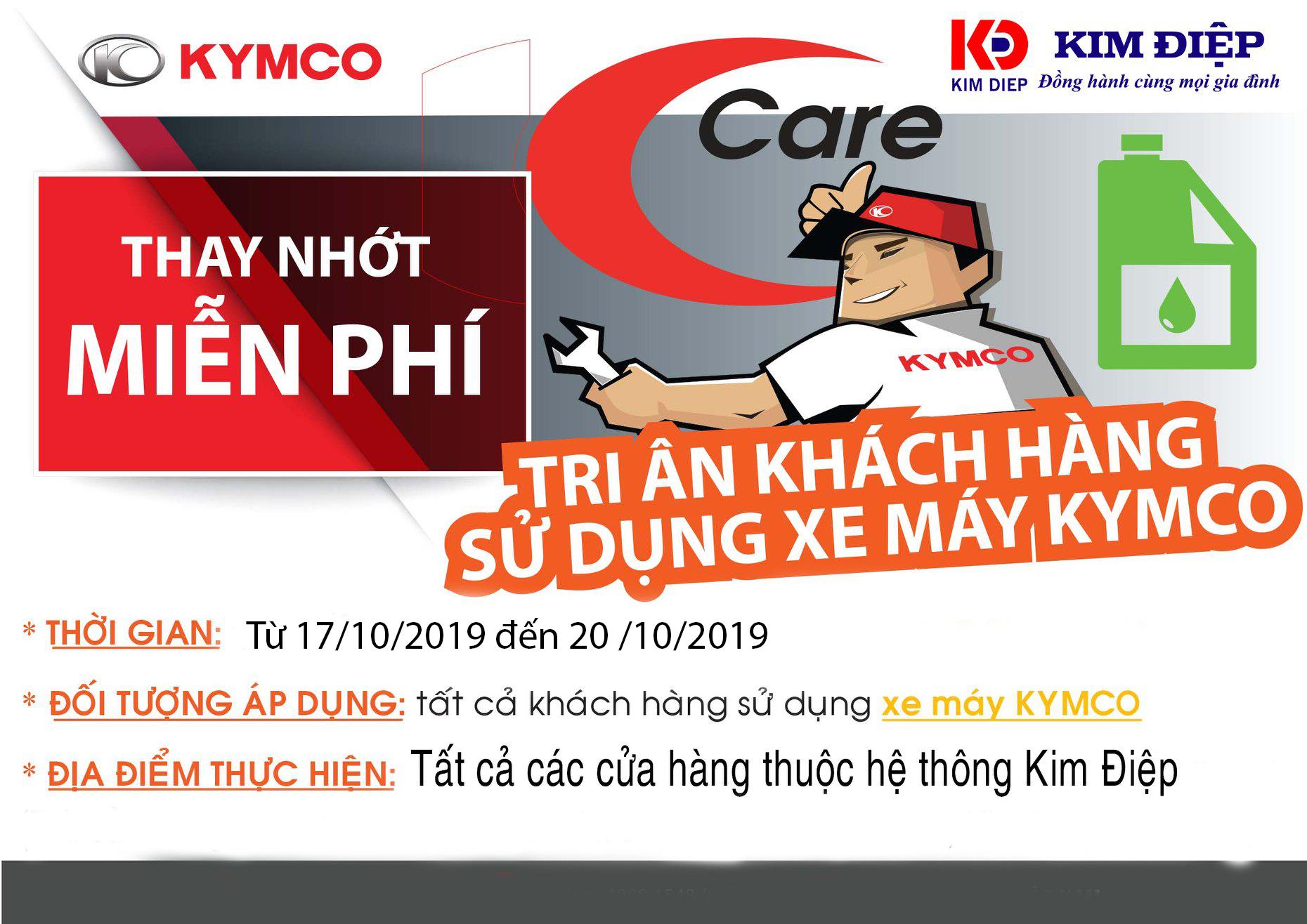 KYMCO Việt Nam trân trọng thông báo đến Quý Khách hàng chương trình TRI ÂN KHÁCH HÀNG SỬ DỤNG XE MÁY KYMCO