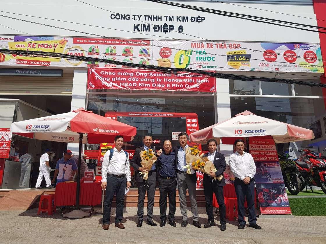 HEAD Kim Điệp vinh dự đón Tổng Giám đốc  và Giám đốc lĩnh vực kinh doanh xe máy Công ty Honda Việt Nam tới thăm