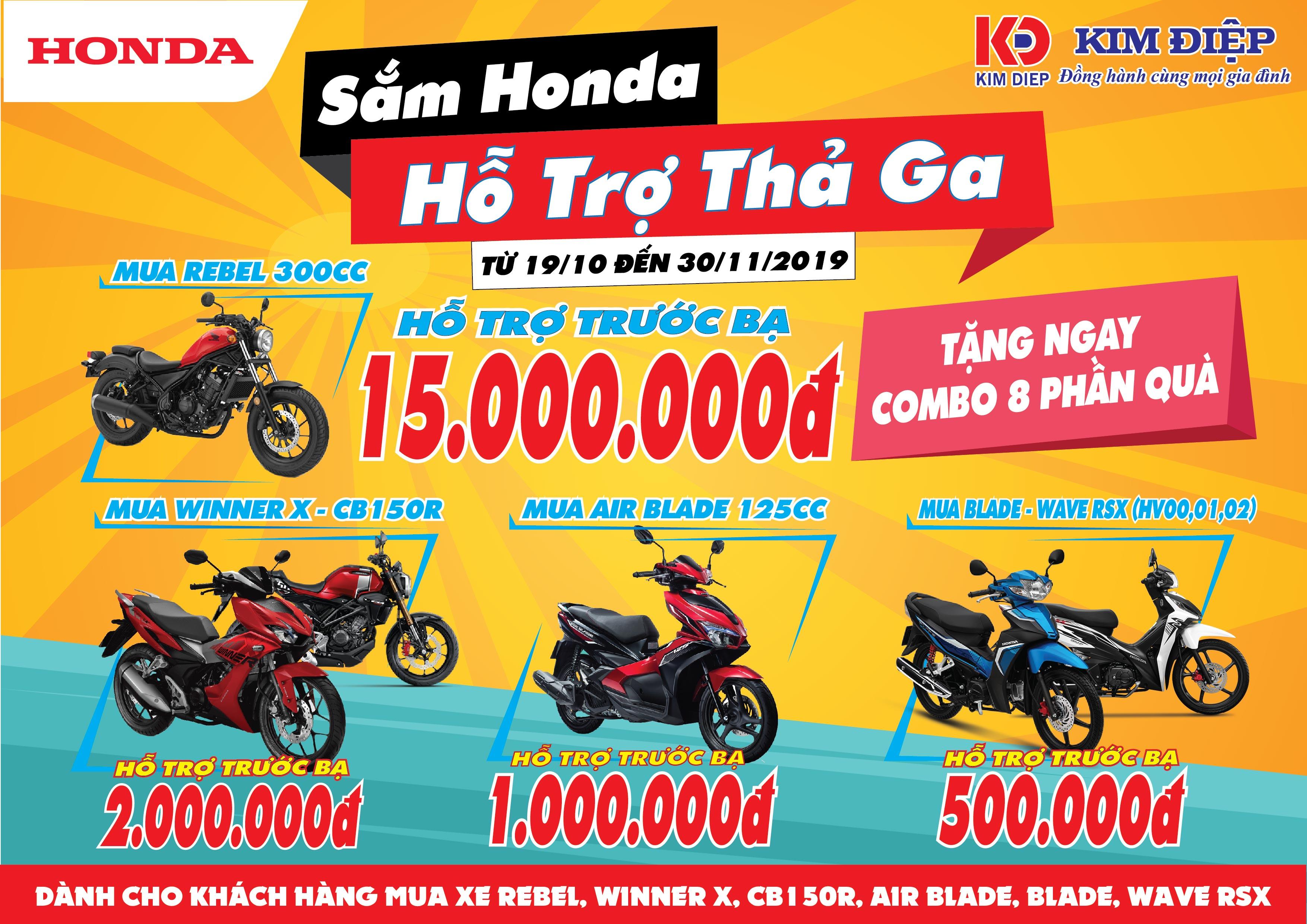 Sắm Honda Hỗ Trợ Thả Ga