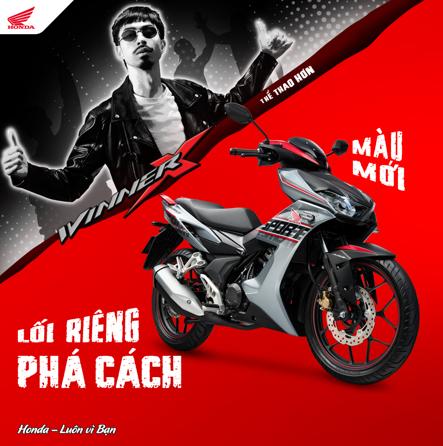 Honda Việt Nam giới thiệu Winner X phiên bản Thể thao ABS tem màu mới