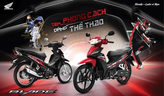 Honda Việt Nam giới thiệu phiên bản mới Blade 110cc  Tem phong cách, dáng thể thao