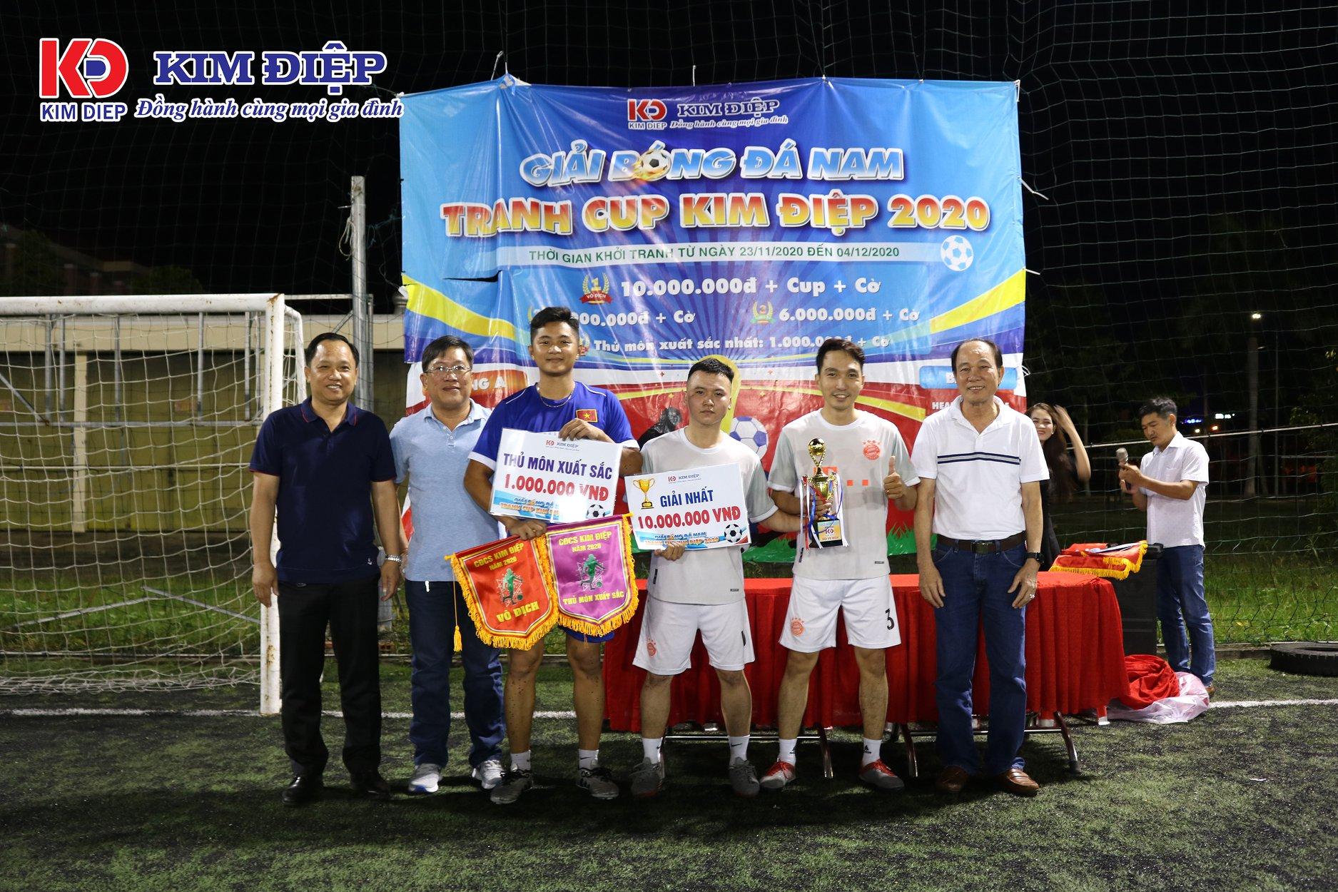 Bế mạc giải bóng đá tranh Cup Kim Điệp năm 2020