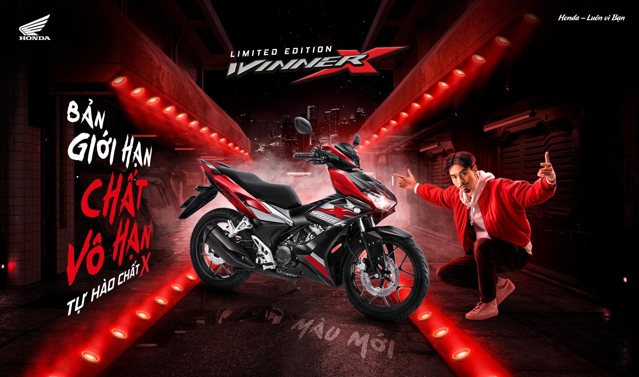 """Honda Việt Nam giới thiệu phiên bản màu giới hạn cho siêu phẩm WINNER X  """"Bản giới hạn Chất vô hạn"""""""