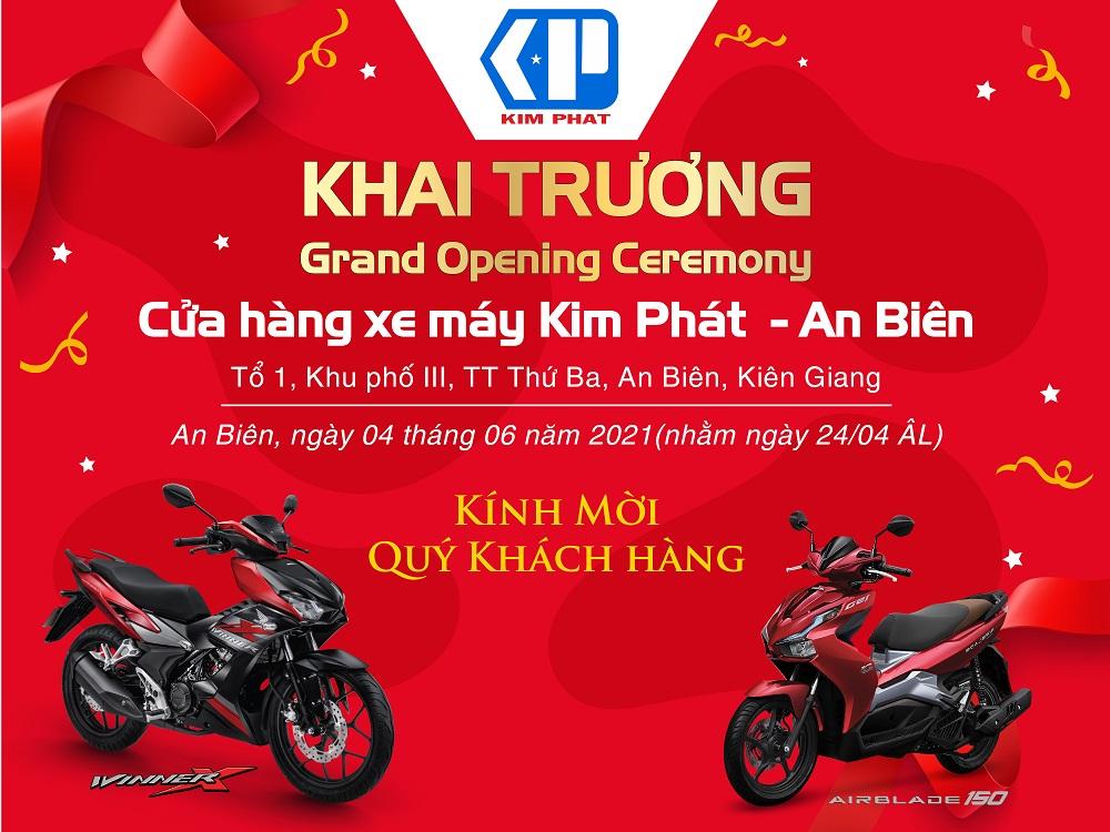 Khai trương cửa hàng xe máy Kim Phát An Biên