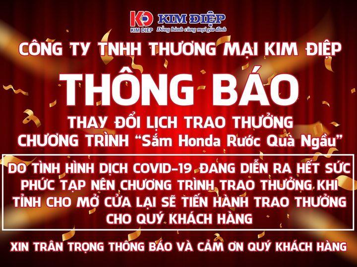 """THAY ĐỔI LỊCH TRAO THƯỞNG """" Sắm Honda Rước Quà Ngầu"""""""