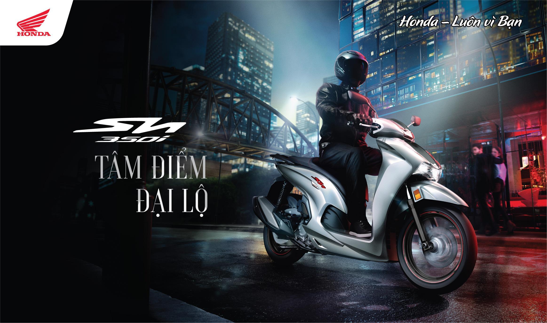 Honda Việt Nam chính thức giới thiệu mẫu xe ga cao cấp hoàn toàn mới SH350i